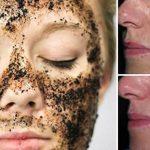 Die Kaffeesatz-Gesichtsmaske, die Falten, Akne und Unvollkommenheiten beseitigt